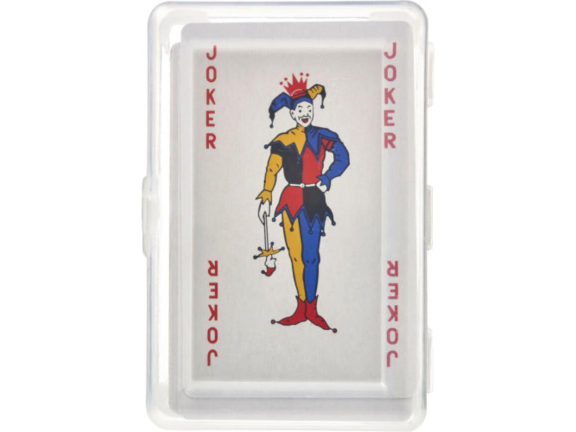 Kartenspiel 'Ace' in transparenter PET Box – Rot bedrucken, Art.-Nr. 008999999_8546