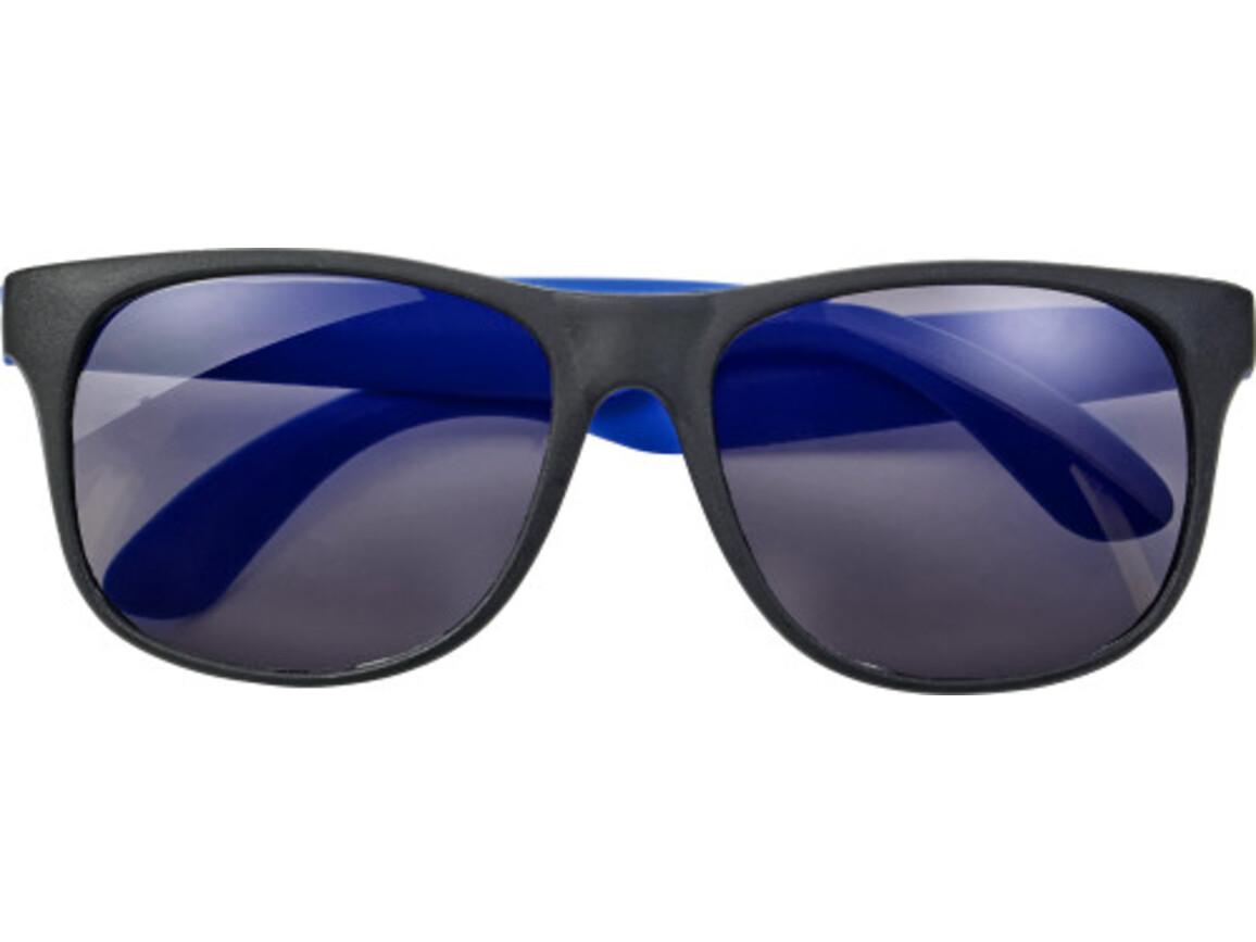 Sonnenbrille 'Heino' aus Kunststoff – Blau bedrucken, Art.-Nr. 005999999_8556