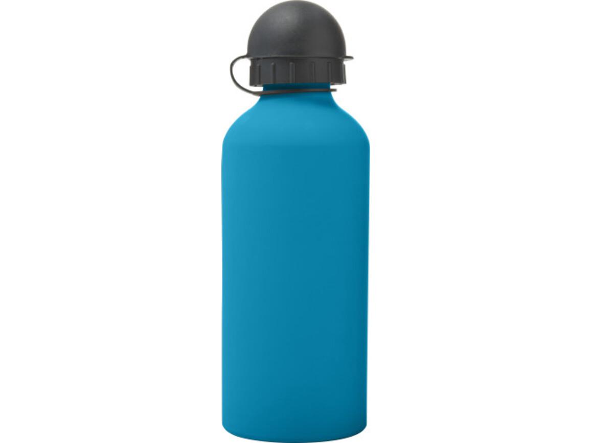 Trinkflasche 'Cap' aus Aluminium (600 ml) – Blau bedrucken, Art.-Nr. 005999999_8567