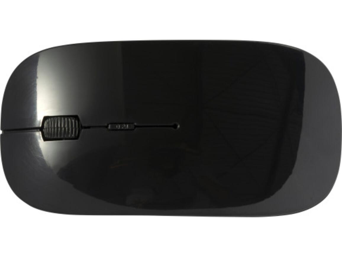 Kabellose Computermaus 'Silicon Valley'' aus ABS-Kunststoff – Schwarz bedrucken, Art.-Nr. 001999999_8578