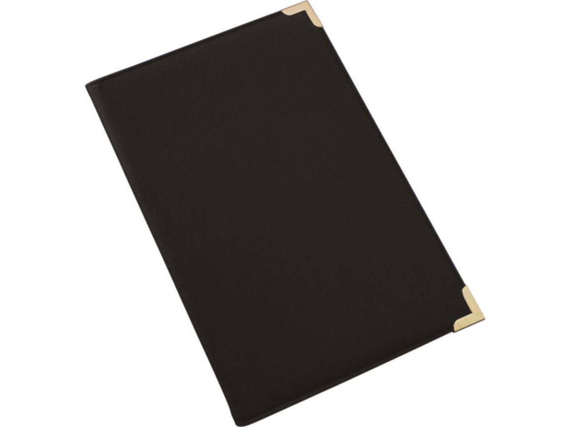 Konferenzmappe 'Oxford' aus PU mit Metallecken – Schwarz bedrucken, Art.-Nr. 001999999_8620
