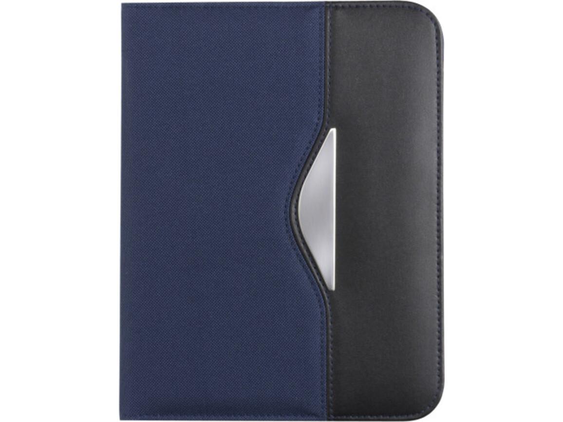 Dokumentenmappe 'Diplomat' aus Polyester/Kunstleder – Blau bedrucken, Art.-Nr. 005999999_8666