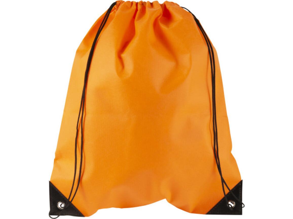 Turnbeutel 'Jim' aus Nonwoven – Orange bedrucken, Art.-Nr. 007999999_8692