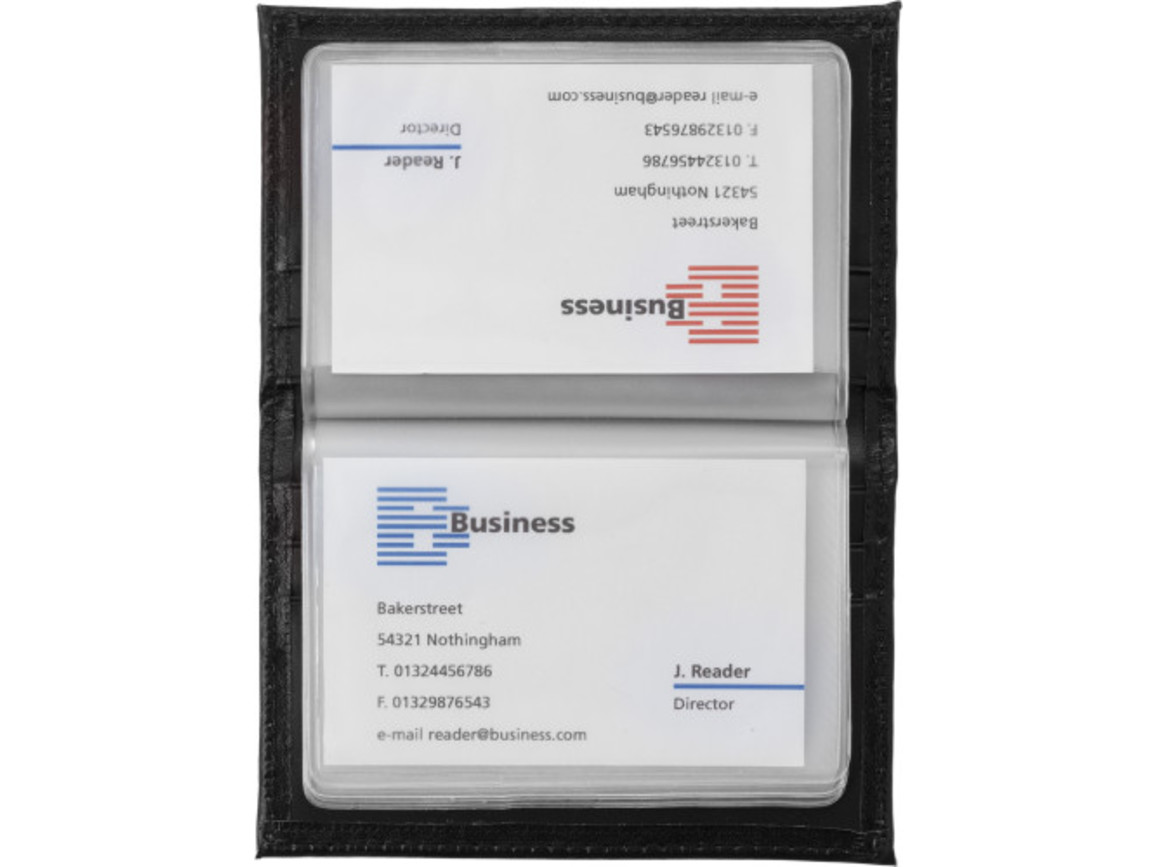 Kreditkartenmappe 'Laser-Line' aus Kunstleder – Schwarz bedrucken, Art.-Nr. 001999999_8734