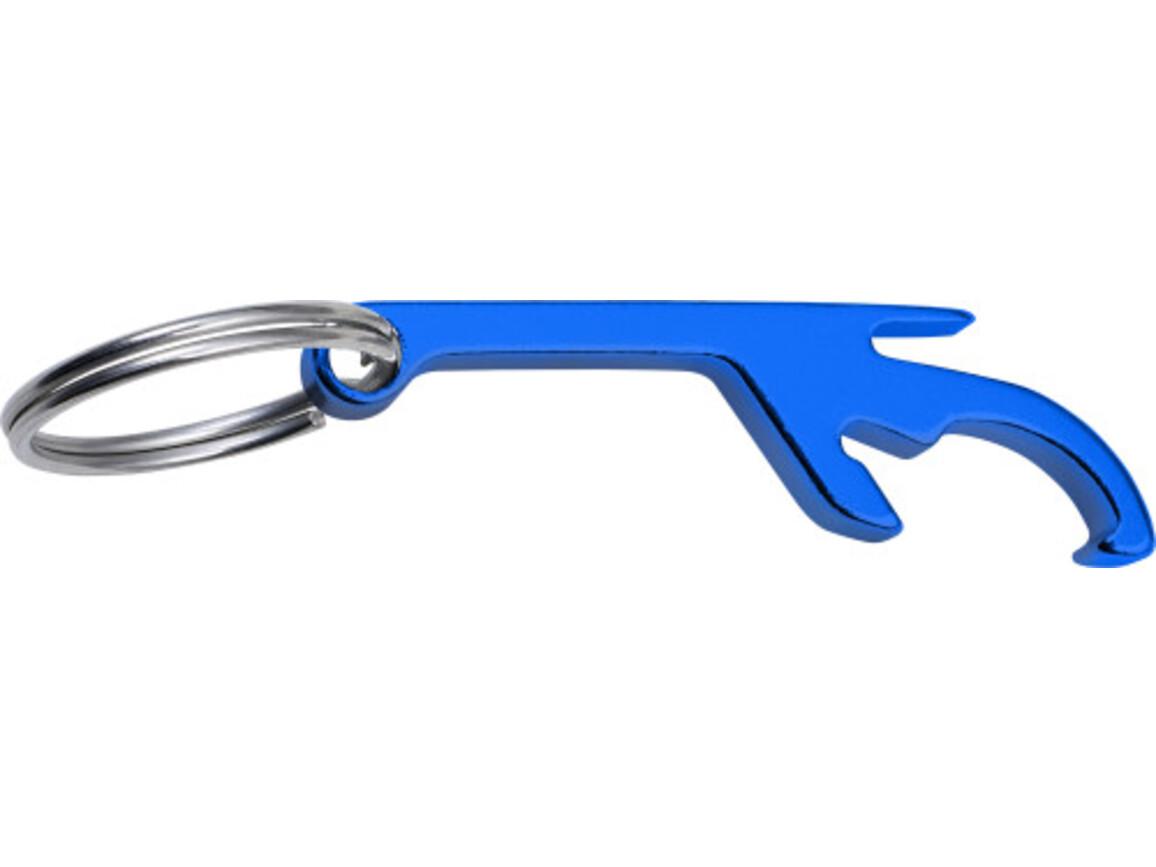Schlüsselanhänger 'Sylt' mit Dosen- und Flaschenöffner – Blau bedrucken, Art.-Nr. 005999999_8838
