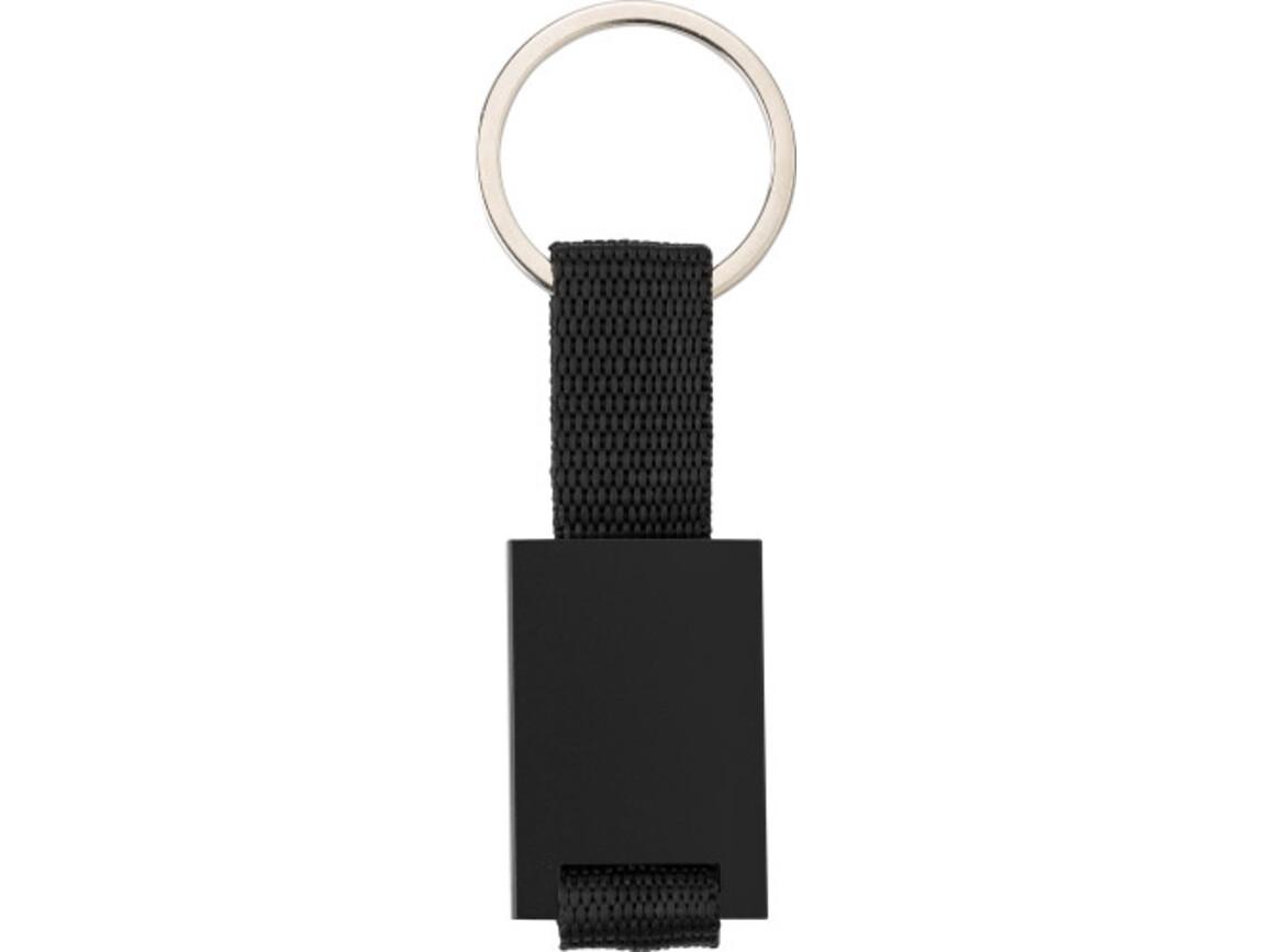 Schlüsselanhänger 'Strap' aus Aluminium – Schwarz bedrucken, Art.-Nr. 001999999_8845