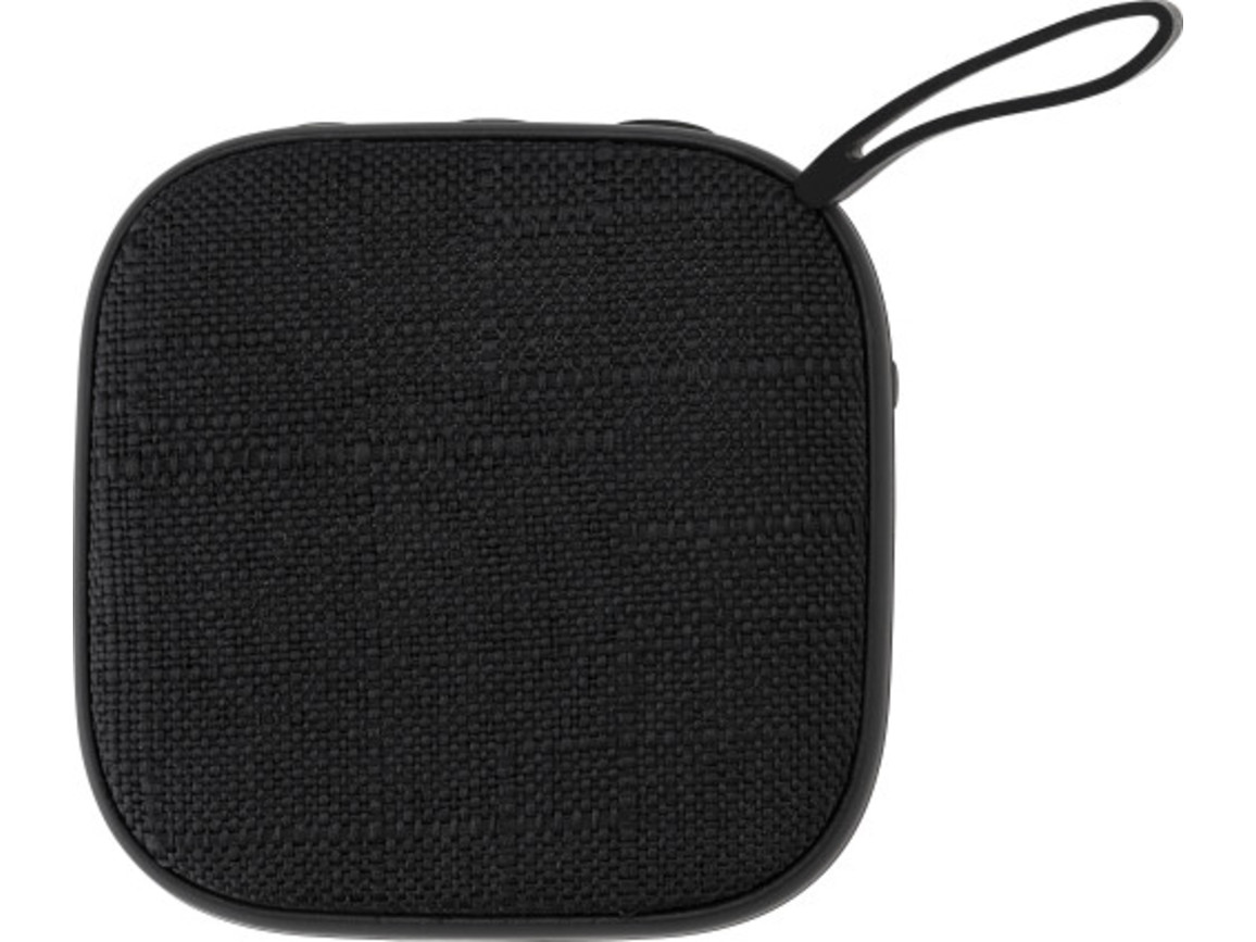 BT-Wireless Lautsprecher 'Denim' aus Kunststoff – Schwarz bedrucken, Art.-Nr. 001999999_8854