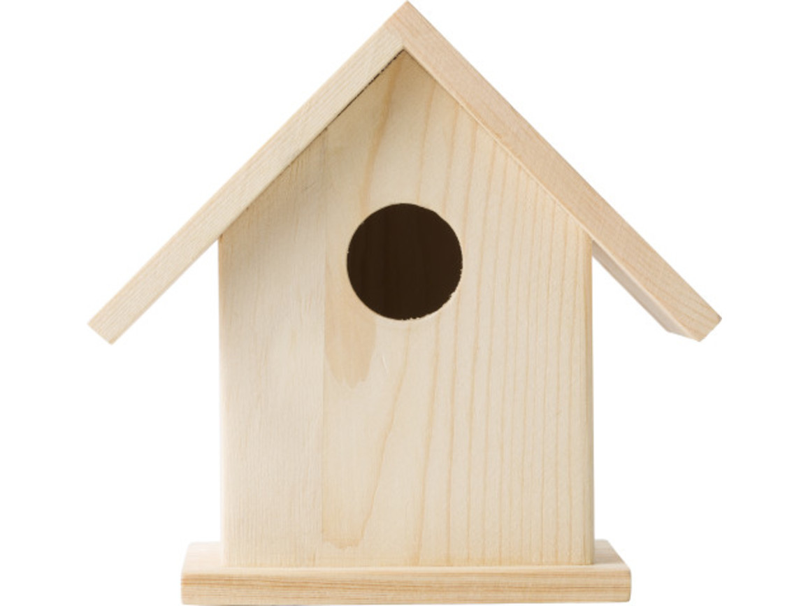 Vogelhaus 'Colibri' mit Malset – Braun bedrucken, Art.-Nr. 011999999_8868
