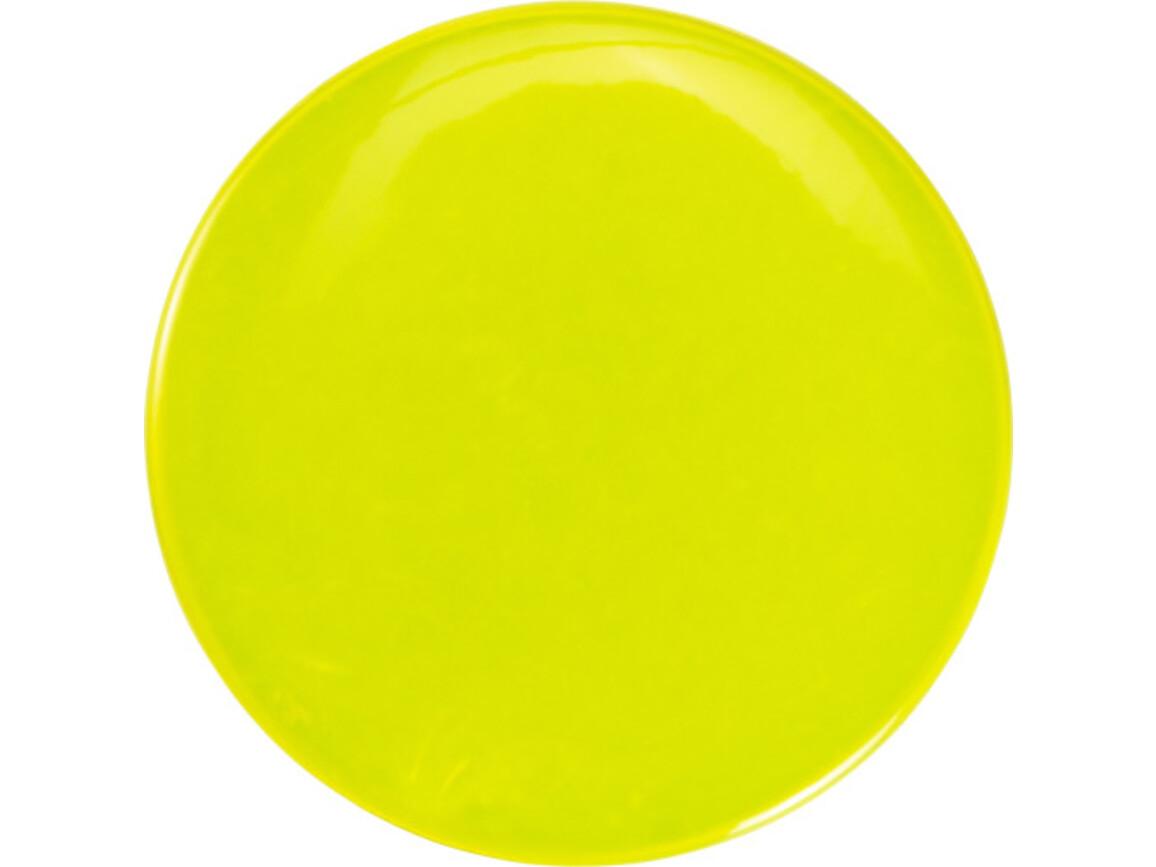 Ansteck-Button 'Light' aus PVC mit Sicherheitsnadel (Ø 6cm) – Gelb bedrucken, Art.-Nr. 006999999_8961