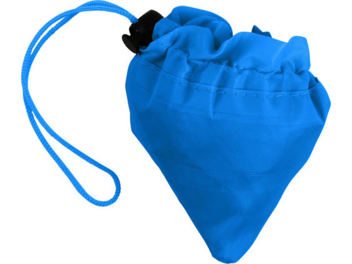 Faltbare Einkaufstasche 'Edge' aus Polyester – Blau bedrucken, Art.-Nr. 005999999_8962