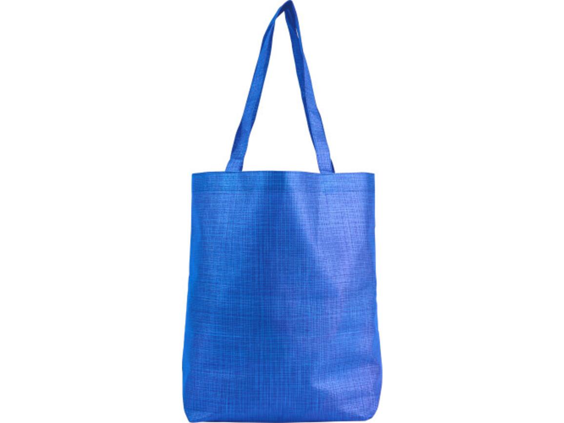 Faltbare Einkaufstasche 'Hannah' aus Nonwoven – Blau bedrucken, Art.-Nr. 005999999_8977