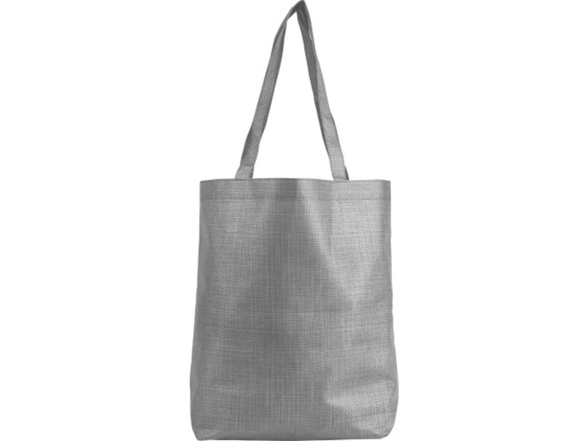 Faltbare Einkaufstasche 'Hannah' aus Nonwoven – Grau bedrucken, Art.-Nr. 003999999_8977
