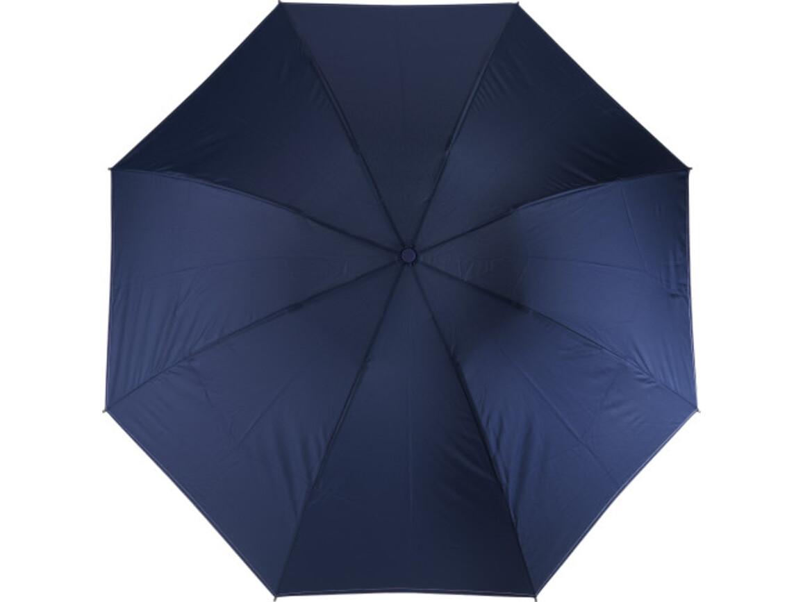 Reversibler Taschenschirm 'Ina' aus Pongee – Blau bedrucken, Art.-Nr. 005999999_8979
