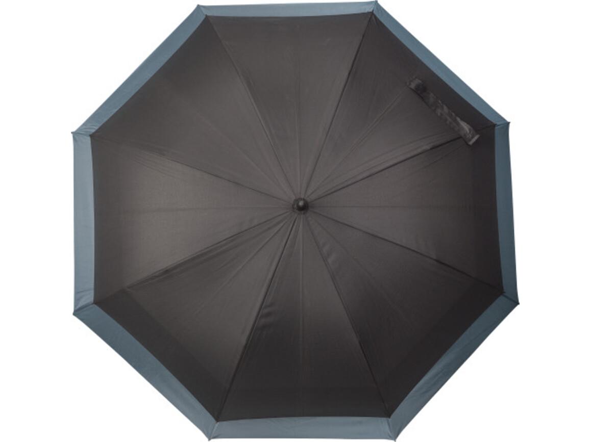 Automatischer Regenschirm 'Double' aus Pongee – Grau bedrucken, Art.-Nr. 003999999_8984