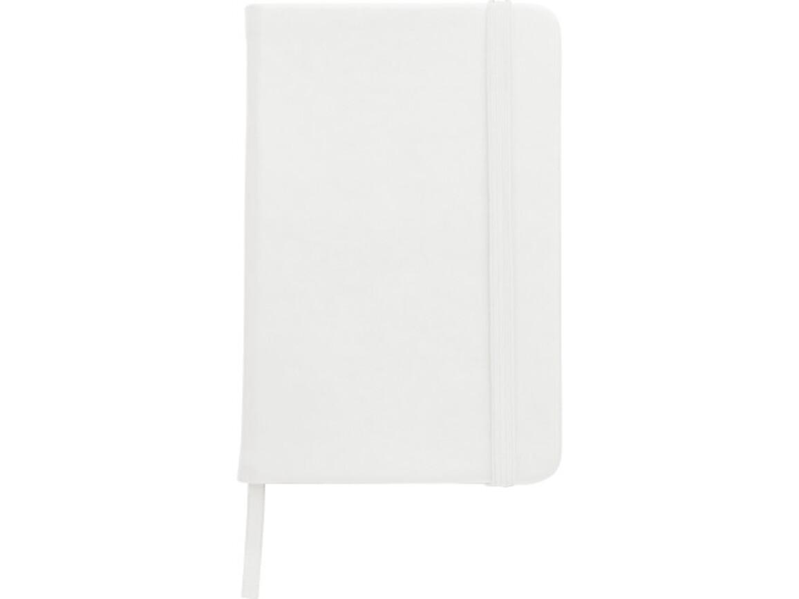 Notizbuch 'Pure' aus Kunststoff (ca. DIN A5) – Weiß bedrucken, Art.-Nr. 002999999_8985