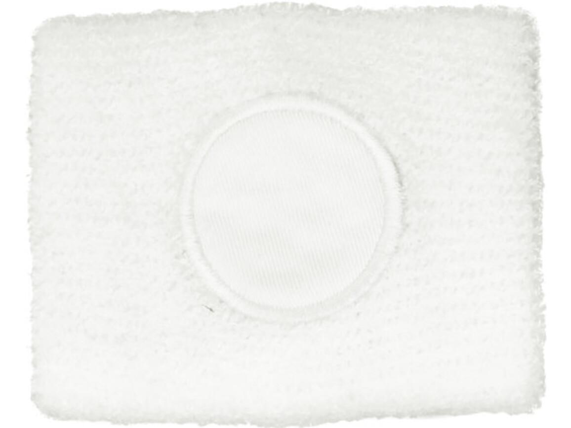 Schweißarmband aus 100 % Baumwolle – Weiß bedrucken, Art.-Nr. 002999999_9078
