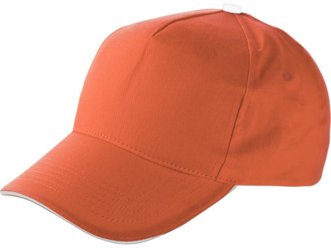 Baseball-Cap 'Dallas' aus Baumwolle – Orange bedrucken, Art.-Nr. 007999999_9114