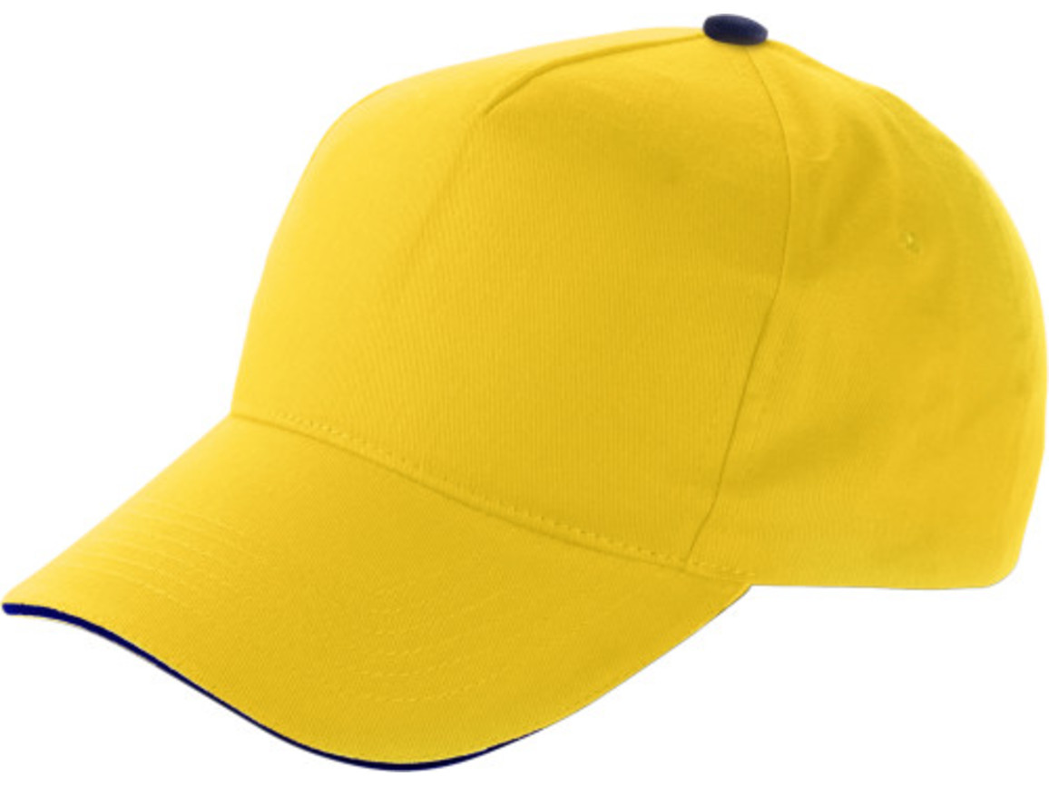 Baseball-Cap 'Dallas' aus Baumwolle – Gelb bedrucken, Art.-Nr. 006999999_9114