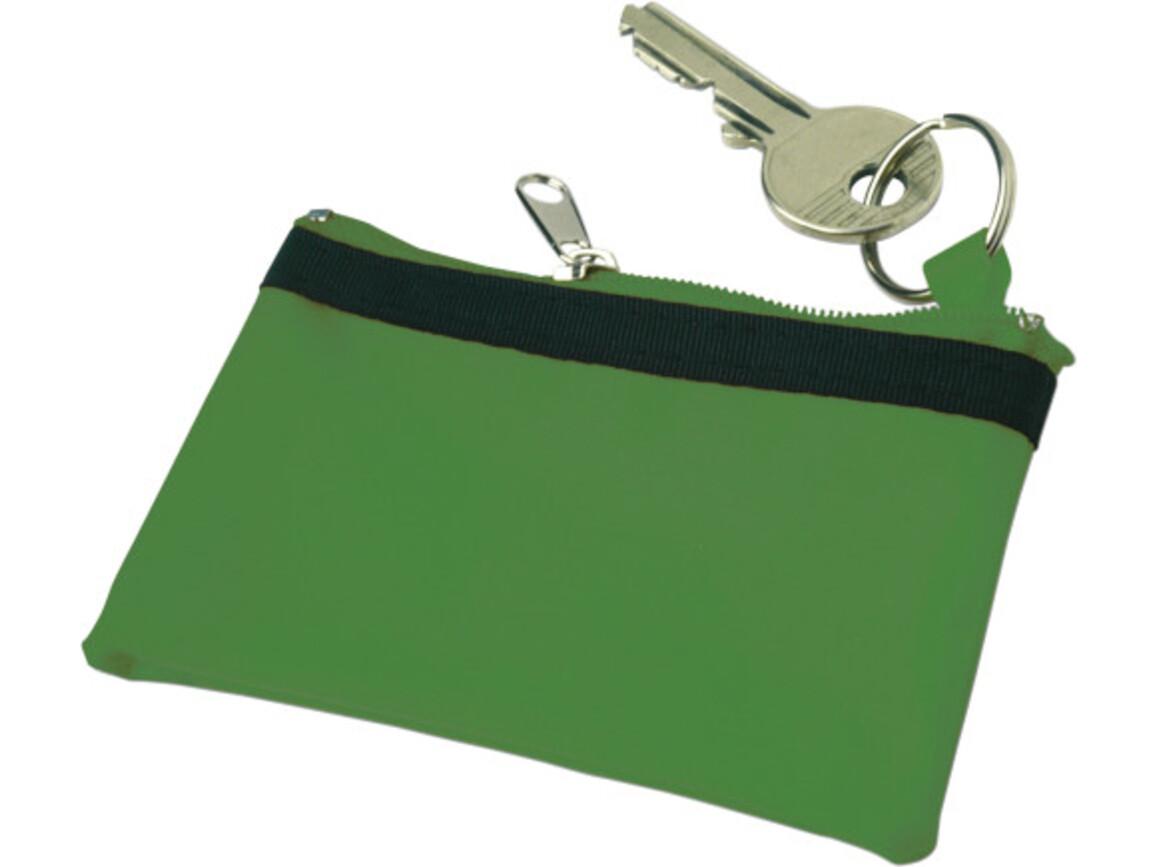 Schlüsseletui 'Edition' aus Nylon – Grün bedrucken, Art.-Nr. 004999999_9124