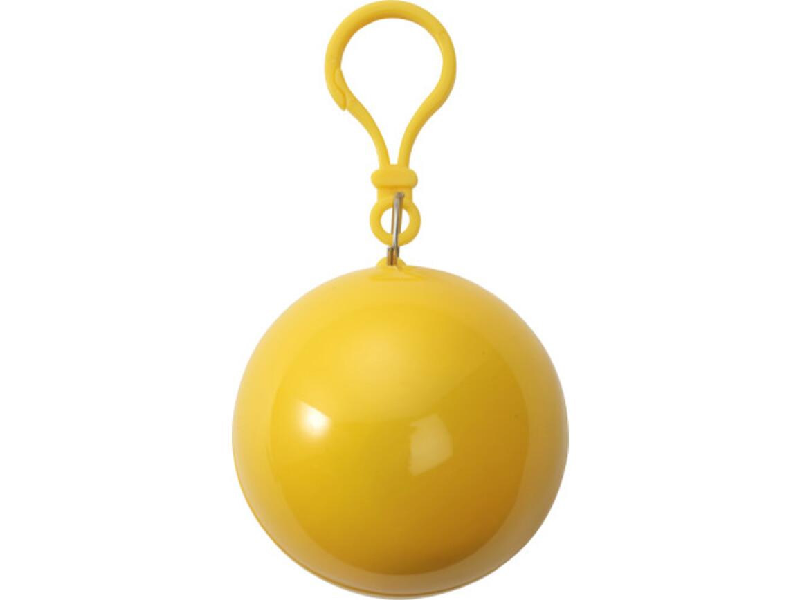 Poncho 'Universum' aus Kunststoff – Gelb bedrucken, Art.-Nr. 006999999_9137