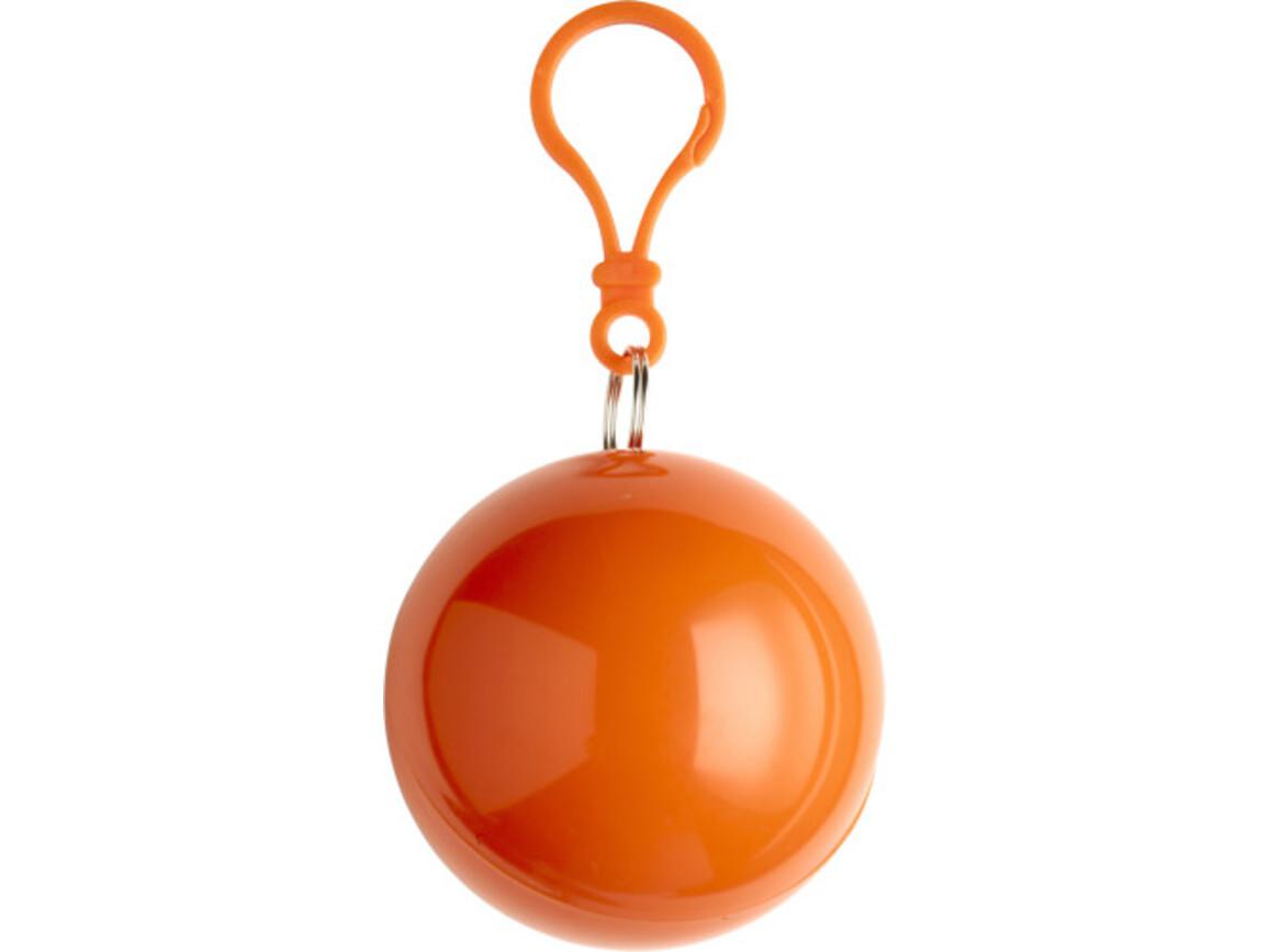 Poncho 'Universum' aus Kunststoff – Orange bedrucken, Art.-Nr. 007999999_9137