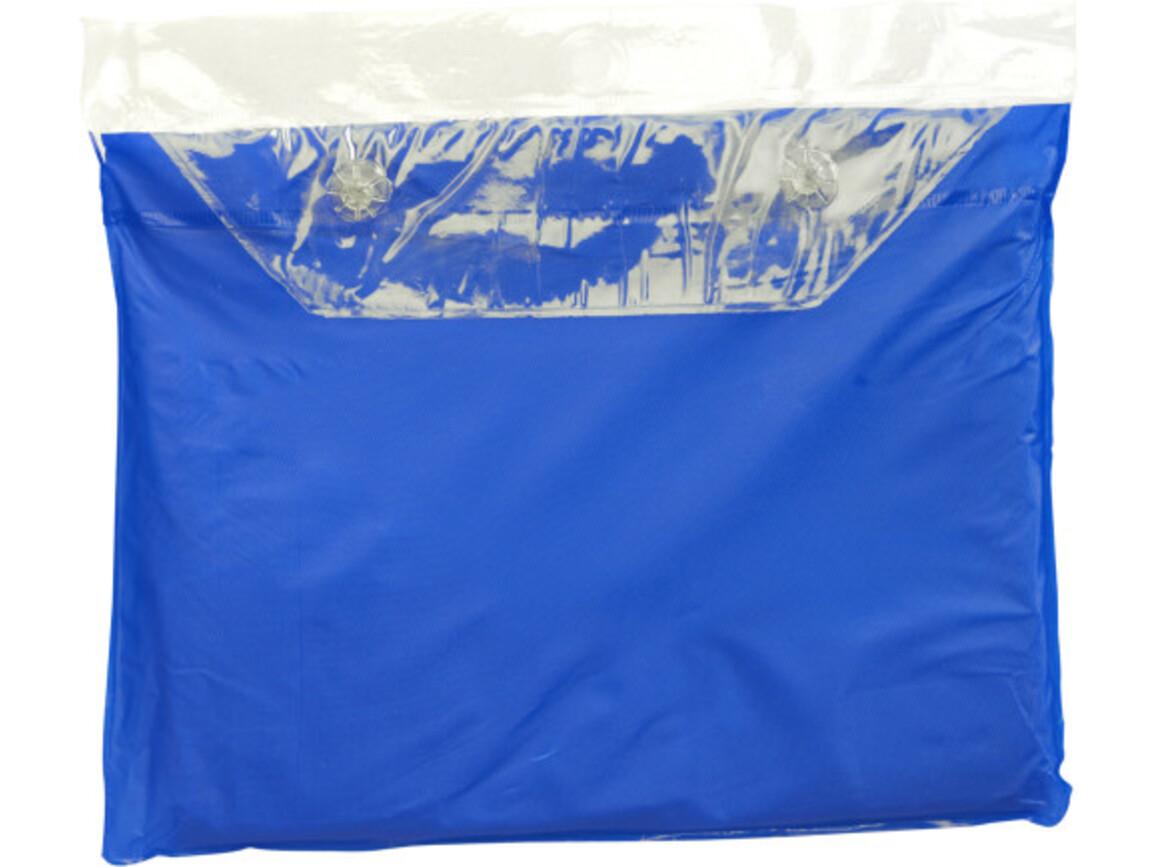 Universal-Freizeitponcho 'Dry' – Blau bedrucken, Art.-Nr. 005999999_9507