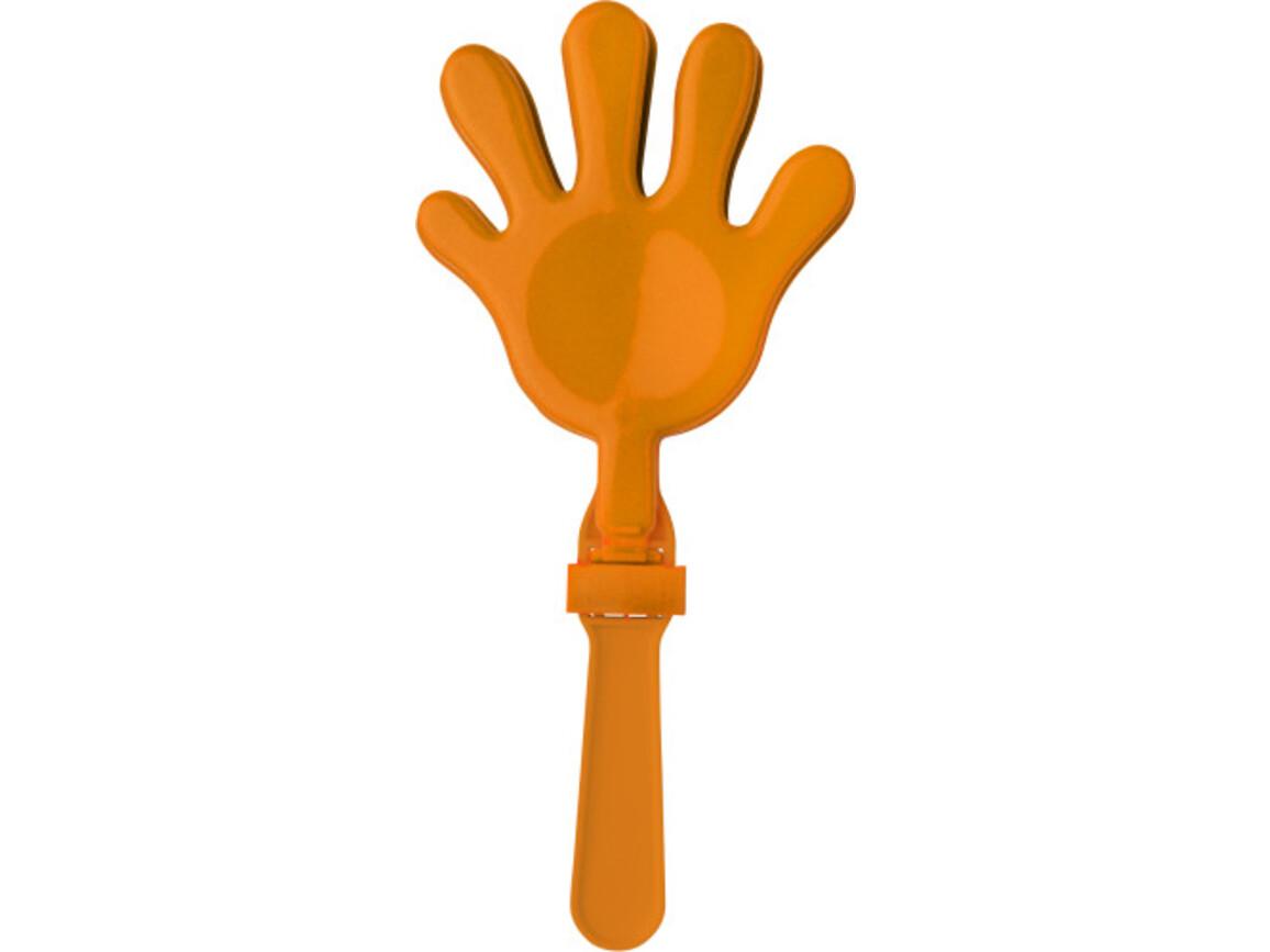 Klapperhand 'Action' aus Kunststoff – Orange bedrucken, Art.-Nr. 007999999_9539