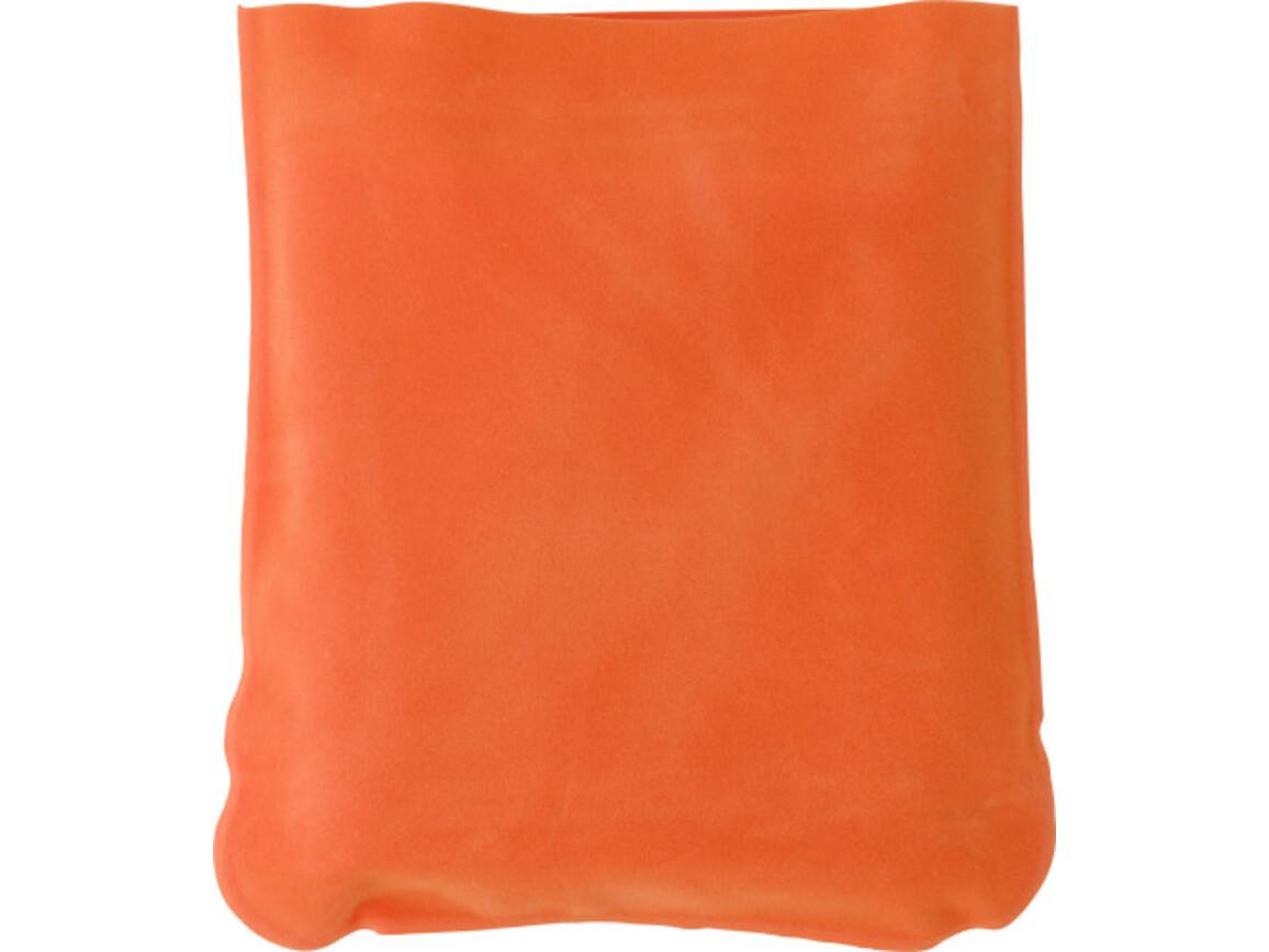 Aufblasbare Nackenstütze 'Trip' inklusive Hülle aus PVC – Orange bedrucken, Art.-Nr. 007999999_9651