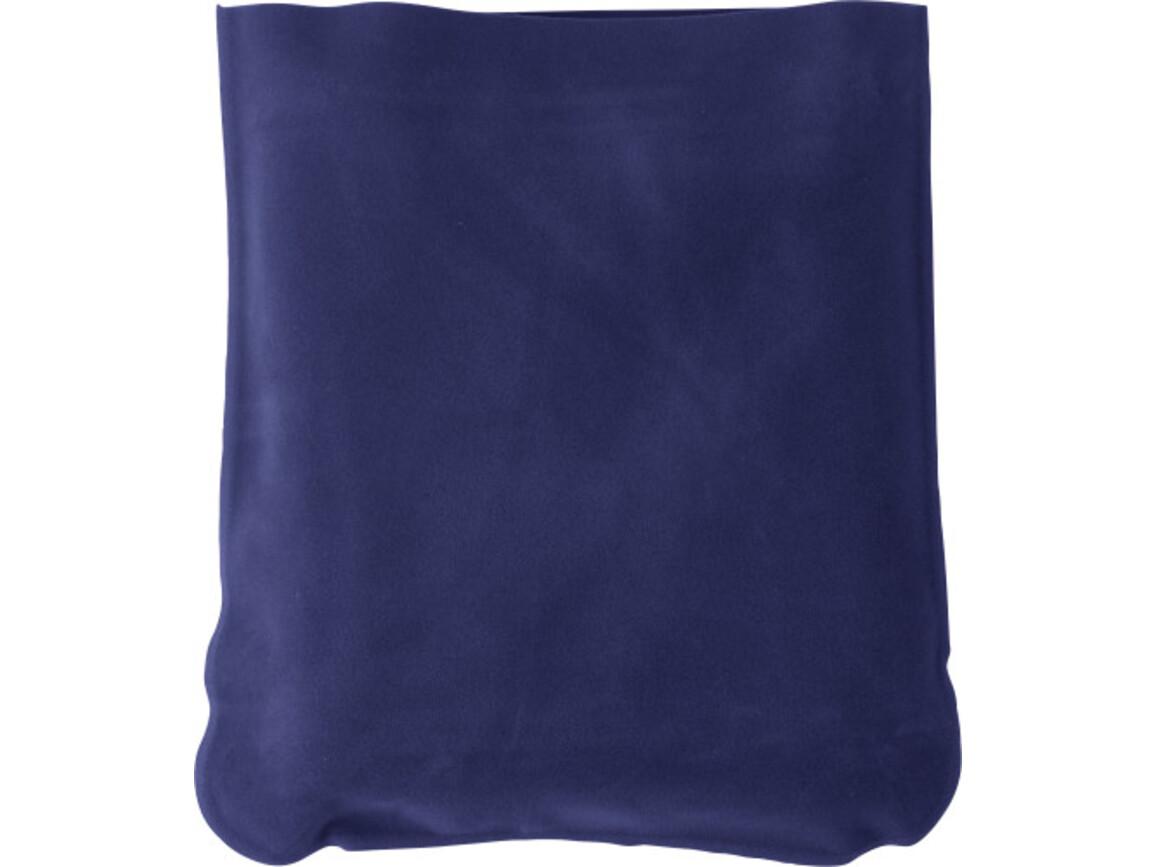 Aufblasbare Nackenstütze 'Trip' inklusive Hülle aus PVC – Blau bedrucken, Art.-Nr. 005999999_9651