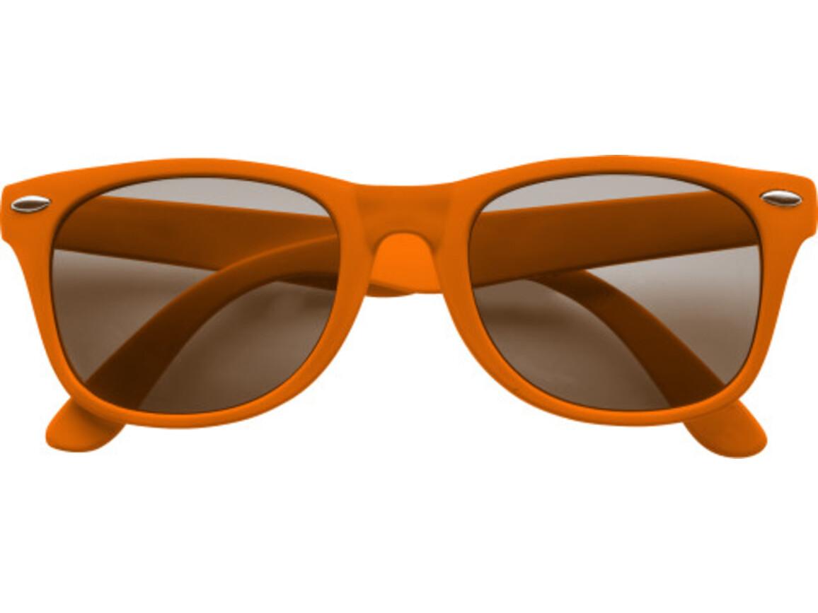 Sonnenbrille  'Fantasie' aus Kunststoff – Orange bedrucken, Art.-Nr. 007999999_9672