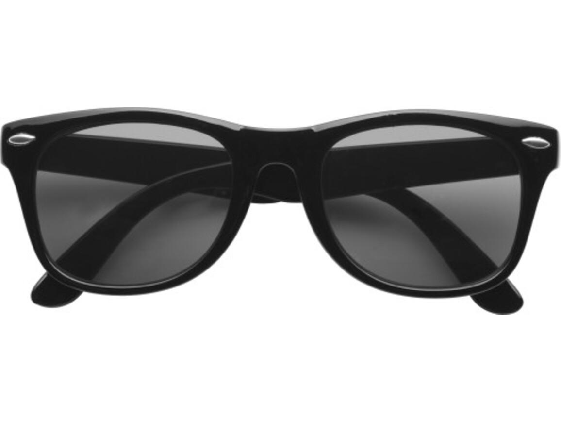 Sonnenbrille  'Fantasie' aus Kunststoff – Schwarz bedrucken, Art.-Nr. 001999999_9672