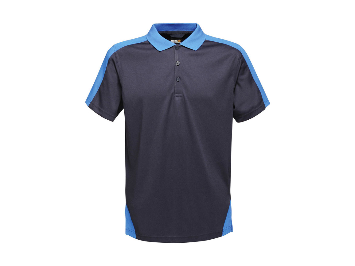 Regatta Contrast Coolweave Polo, Navy/New Royal, 2XL bedrucken, Art.-Nr. 006172617