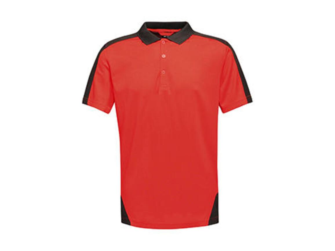 Regatta Contrast Coolweave Polo, Classic Red/Black, XS bedrucken, Art.-Nr. 006174512