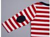 BabyBugz Baby Stripy Long Sleeve T, Navy/Washed White/Red, 18-24 bedrucken, Art.-Nr. 008472845