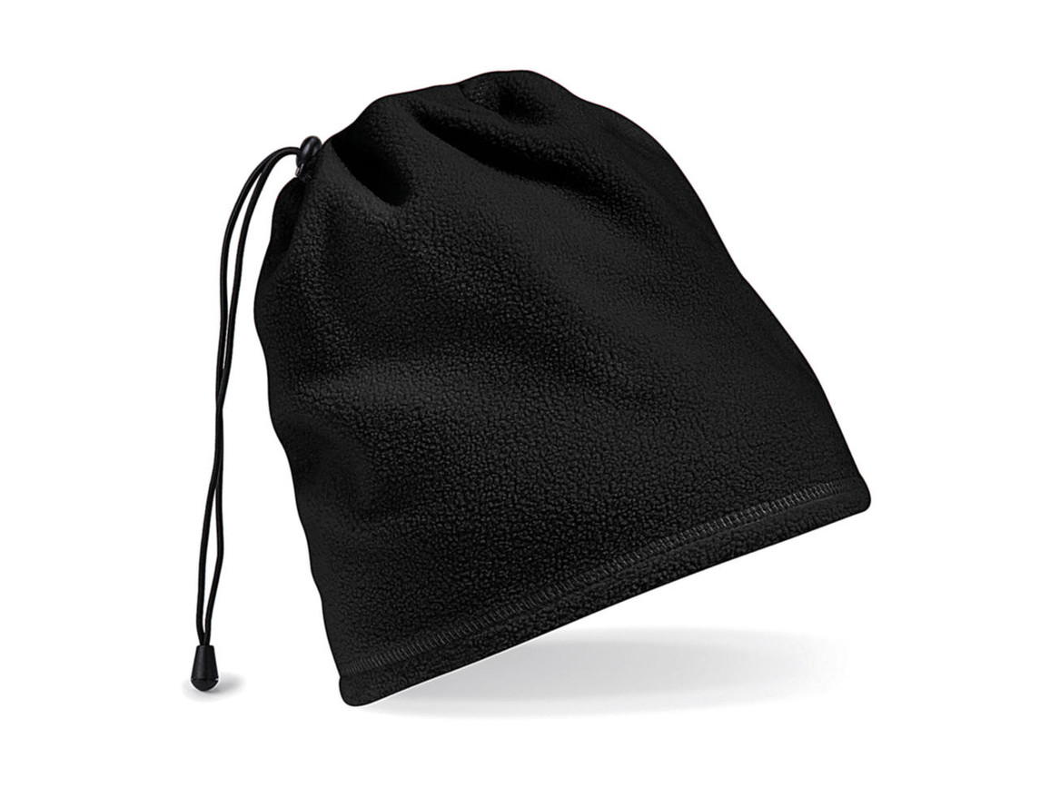 Beechfield Suprafleece™ Snood/ Hat Combo, Black, One Size bedrucken, Art.-Nr. 008691010