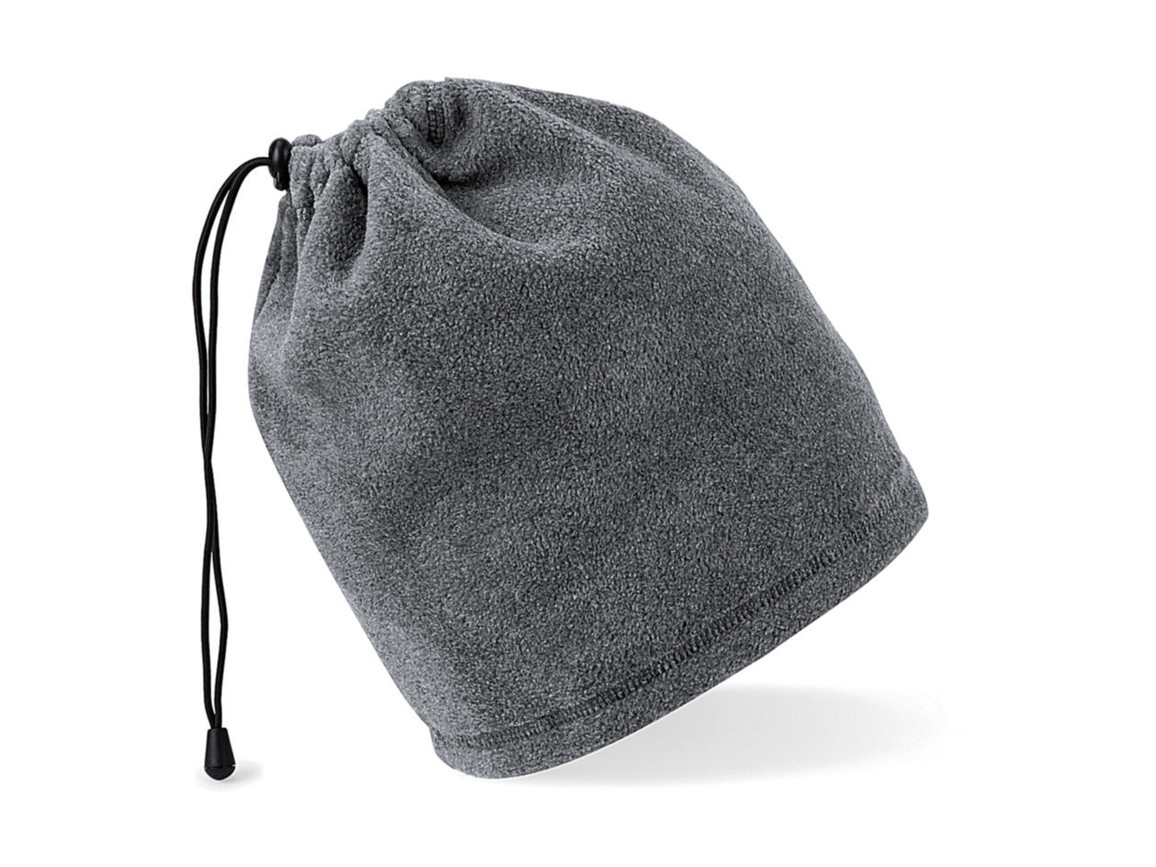 Beechfield Suprafleece™ Snood/ Hat Combo, Charcoal, One Size bedrucken, Art.-Nr. 008691300