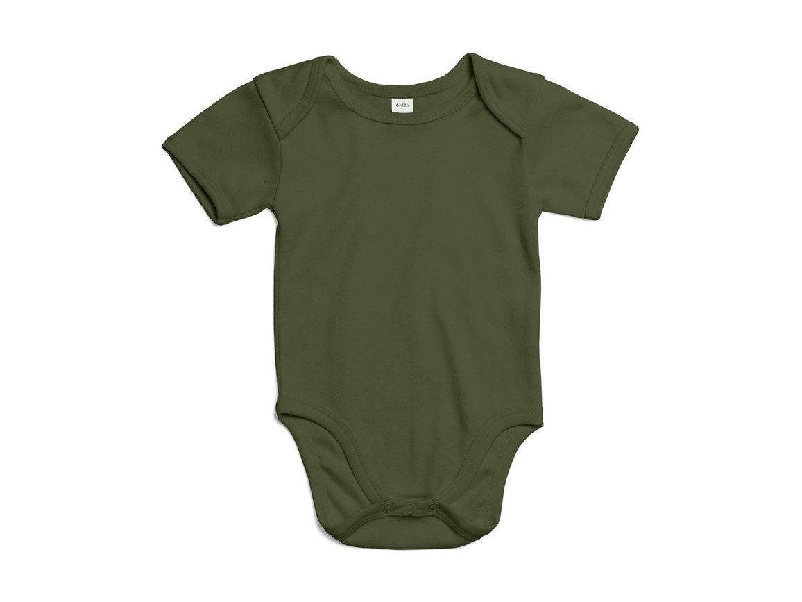 BabyBugz Baby Bodysuit, Light Olive Organic, 12-18 bedrucken, Art.-Nr. 010475294