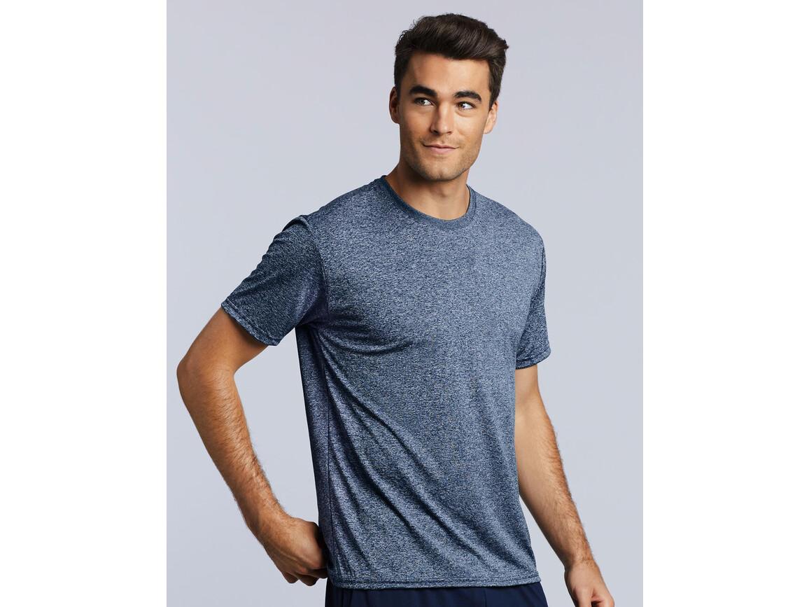 Gildan Performance Adult Core T-Shirt, Heather Sport Purple, M bedrucken, Art.-Nr. 011093244
