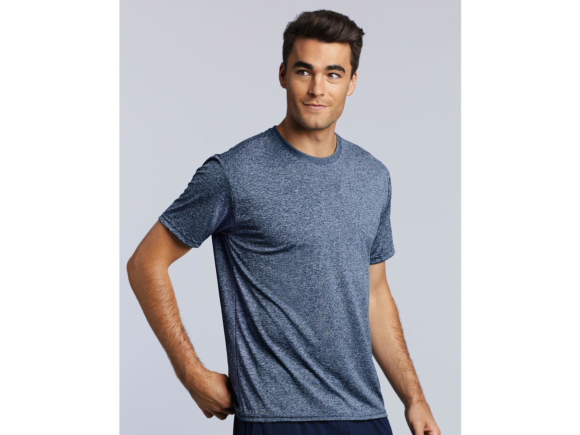 Gildan Performance Adult Core T-Shirt, Heather Sport Royal, S bedrucken, Art.-Nr. 011093123