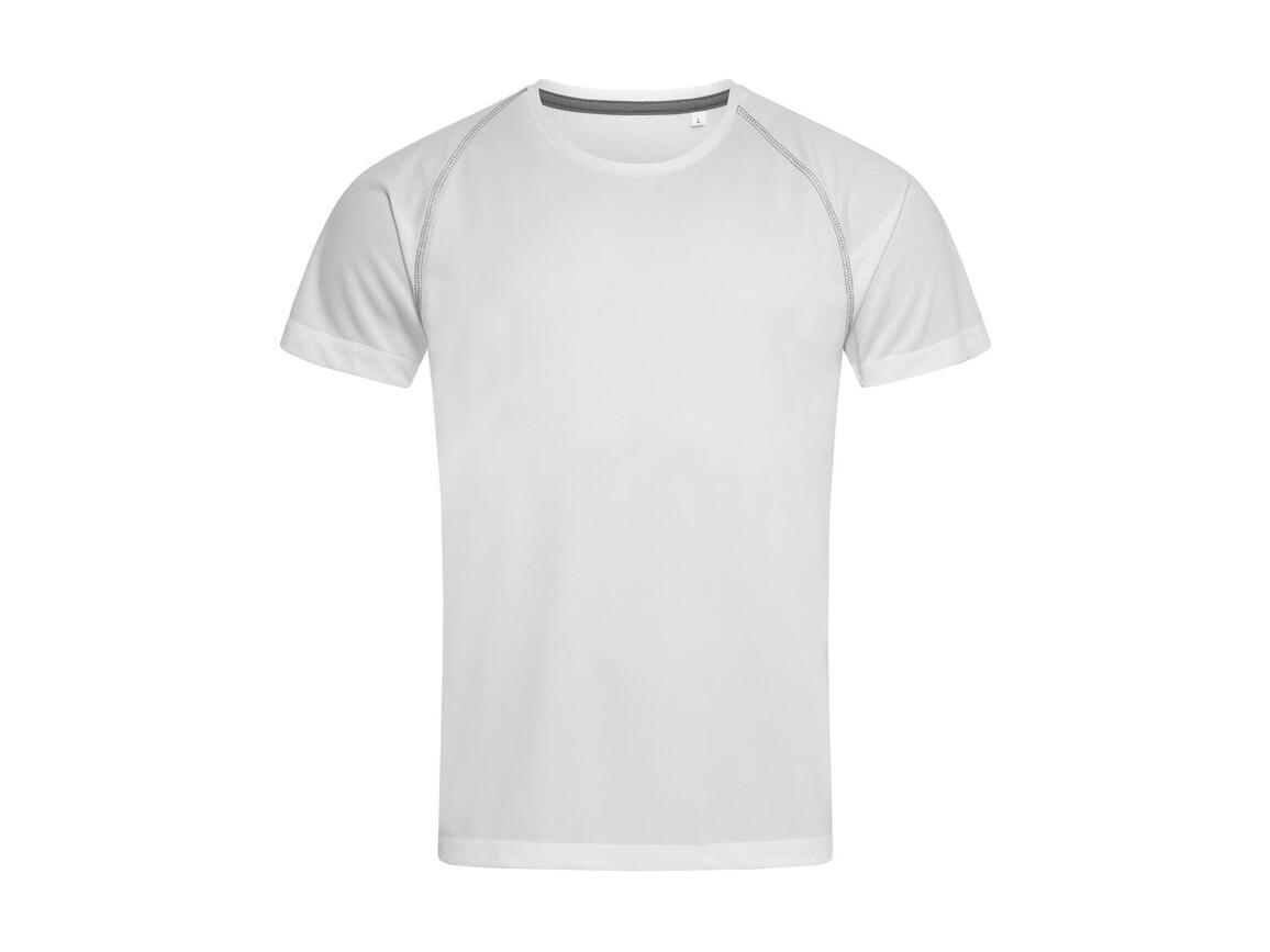 Stedman Active Team Raglan Men, White, L bedrucken, Art.-Nr. 020050005