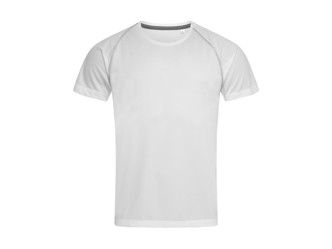 Stedman Active Team Raglan Men, White, M bedrucken, Art.-Nr. 020050004