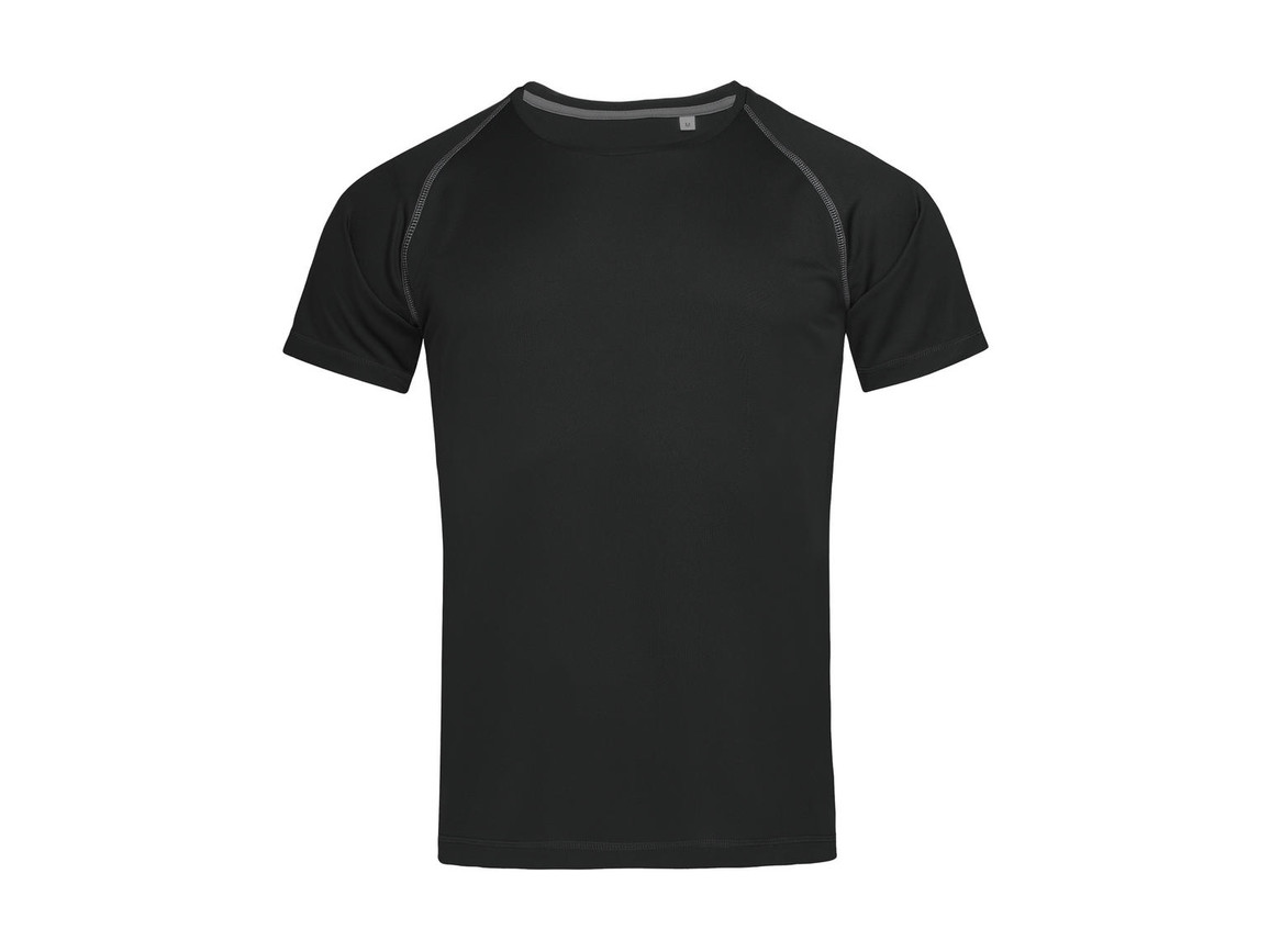 Stedman Active Team Raglan Men, Black Opal, L bedrucken, Art.-Nr. 020051025