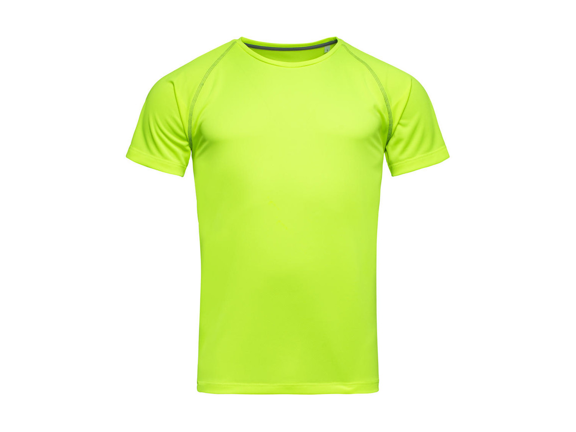 Stedman Active Team Raglan Men, Cyber Yellow, XL bedrucken, Art.-Nr. 020056066