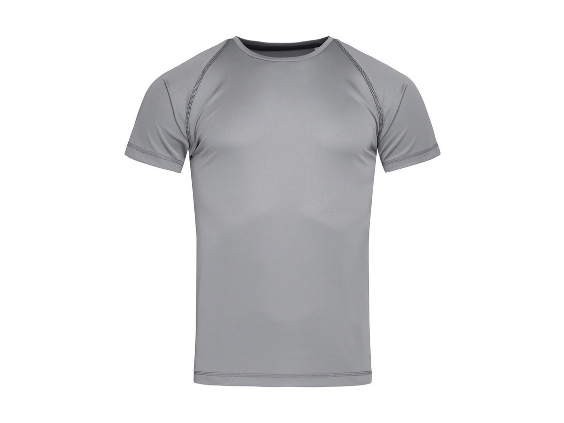 Stedman Active Team Raglan Men, Silver Grey, S bedrucken, Art.-Nr. 020057133