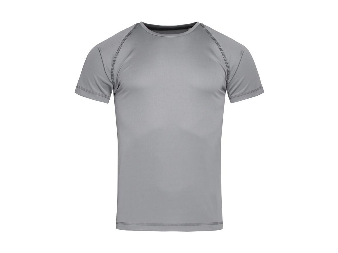 Stedman Active Team Raglan Men, Silver Grey, XL bedrucken, Art.-Nr. 020057136