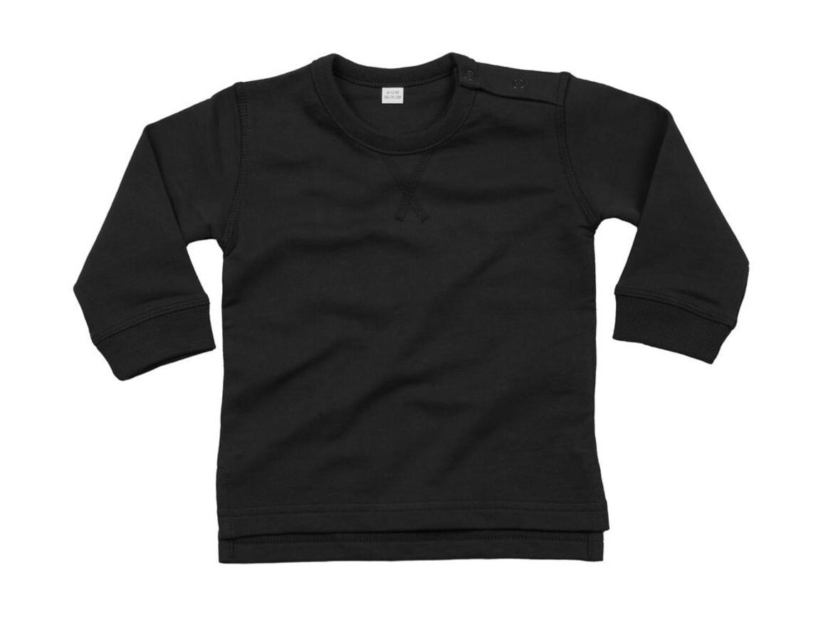BabyBugz Baby Sweatshirt, Black, 12-18 bedrucken, Art.-Nr. 031471014