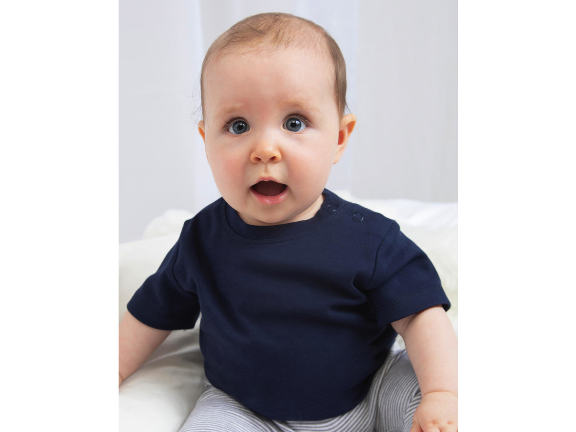 BabyBugz Baby T-Shirt, Surf Blue Organic, 6-12 bedrucken, Art.-Nr. 047473313