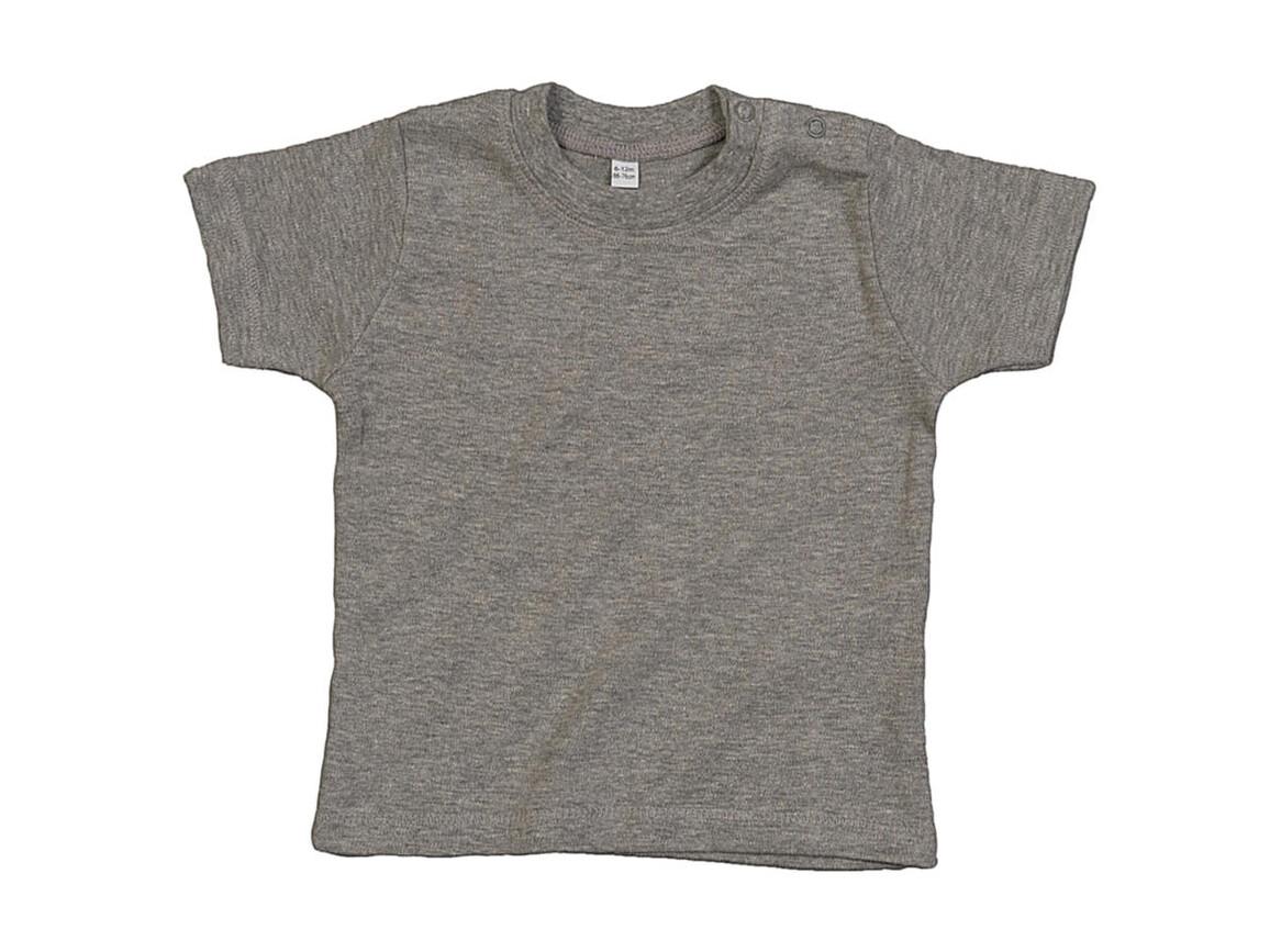 BabyBugz Baby T-Shirt, Heather Grey Melange Organic, 18-24 bedrucken, Art.-Nr. 047471195