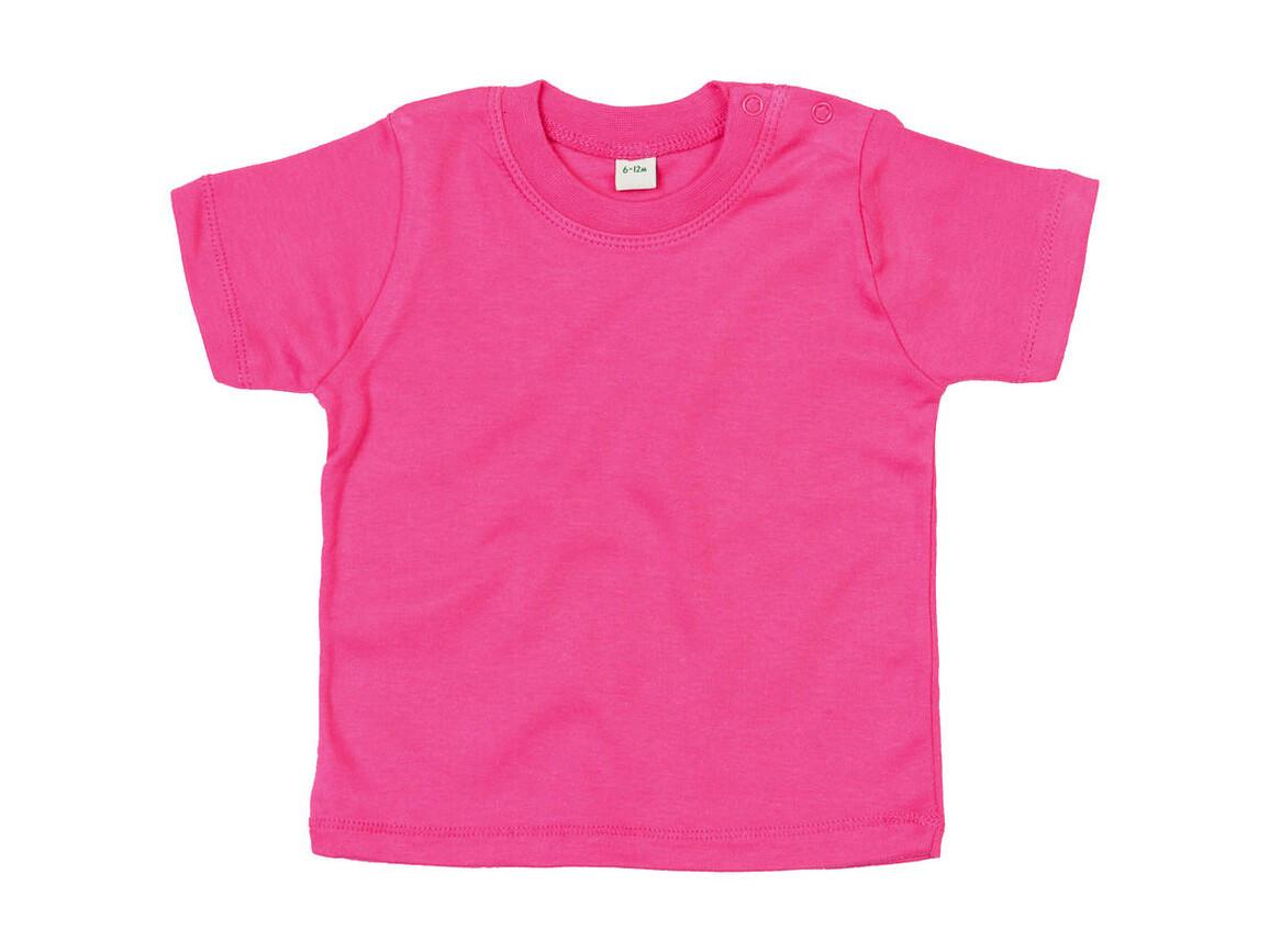 BabyBugz Baby T-Shirt, Fuchsia Organic, 0-3 bedrucken, Art.-Nr. 047474421