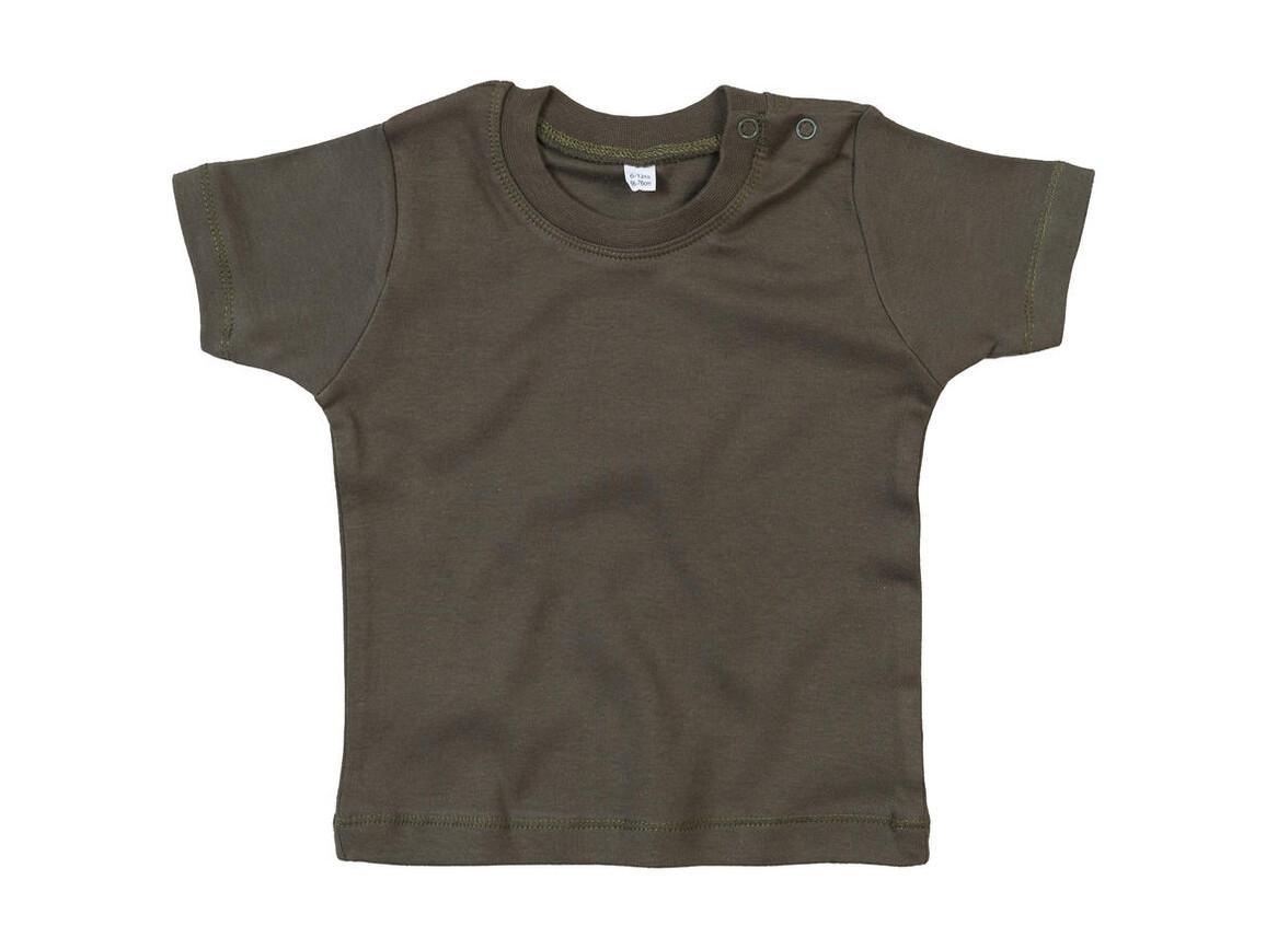 BabyBugz Baby T-Shirt, Light Olive Organic, 6-12 bedrucken, Art.-Nr. 047475293